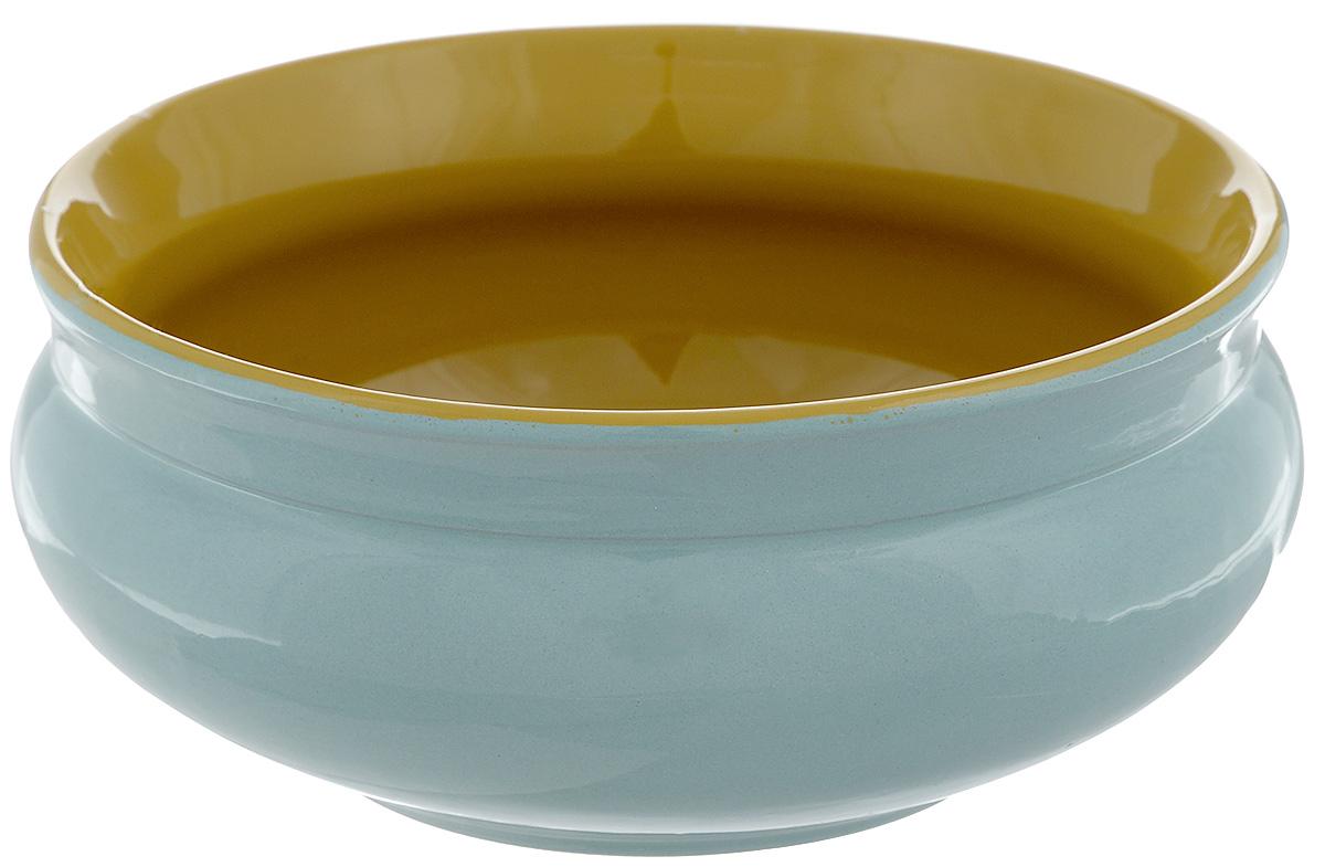 Тарелка глубокая Борисовская керамика Скифская, цвет: бирюзовый, горчичный, 800 млРАД14457937_бирюзовыйГлубокая тарелка Борисовская керамика Скифская выполнена из высококачественной керамики. Изделие сочетает в себе изысканный дизайн с максимальной функциональностью. Она прекрасно впишется в интерьер вашей кухни и станет достойным дополнением к кухонному инвентарю. Тарелка Борисовская керамика Скифская подчеркнет прекрасный вкус хозяйки и станет отличным подарком. Можно использовать в духовке и микроволновой печи. Диаметр тарелки (по верхнему краю): 16 см. Объем: 800 мл.