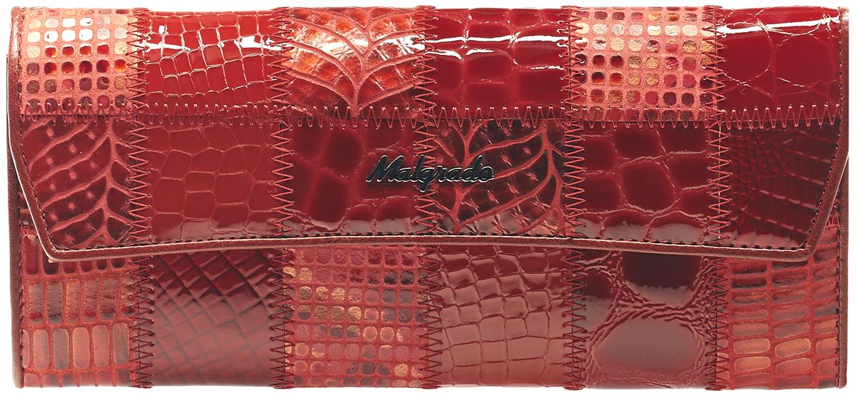 Кошелек женский Malgrado, цвет: красный. 75504A-444A75504A-444A