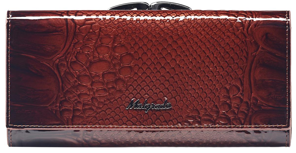 Кошелек женский Malgrado, цвет: коричневый . 72031-0440372031-04403