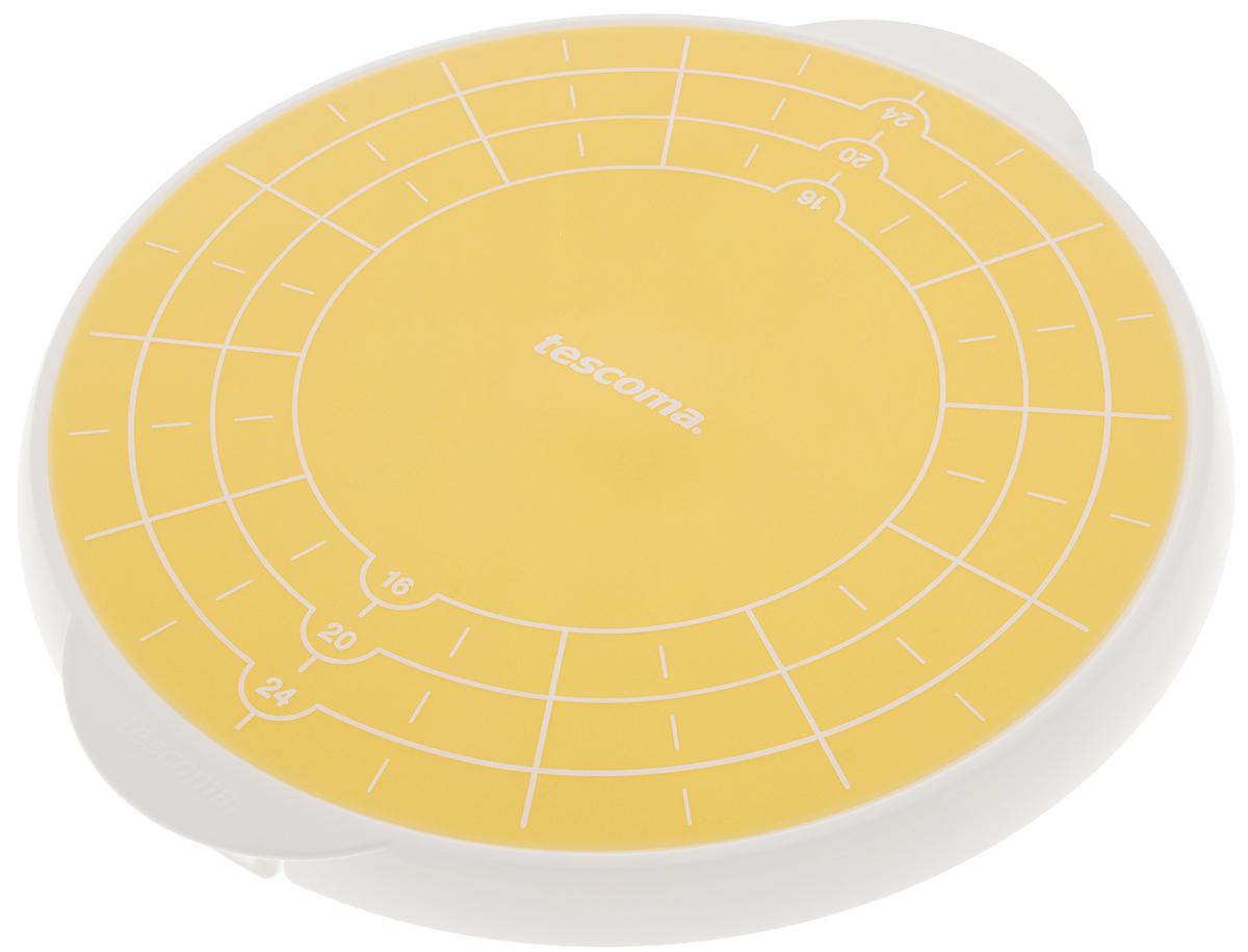 Поднос для торта Tescoma Delicia, запасной, диаметр 29 см630559Запасной поднос для подставки Tescoma Delicia предназначен для украшения на нем торта, а так же для хранения десерта в холодильнике и подачи на стол гостям. Является дополнительным аксессуаром для подставки Tescoma Delicia. Поднос выполнен из жаропрочного силикона, оснащен специальной порционной разметкой, для удобной нарезки торта. Благодаря силиконовому покрытию десерт, размещенный на поднос, не скользит. Можно мыть в посудомоечной машине. Диаметр подноса: 29 см.