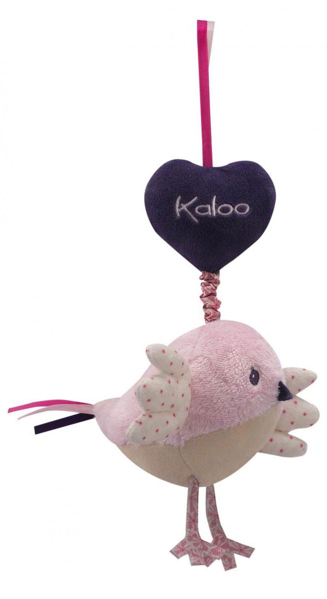 Kaloo Мягкая музыкальная игрушка ПтичкаK969875Очаровательная мягкая музыкальная птичка Kaloo надолго станет постоянным спутником малыша и позволит ему сладко уснуть. Игрушка выполнена из качественных и безопасных для здоровья детей материалов, которые не вызывают аллергии, приятны на ощупь и доставляют большое удовольствие во время игр. Игрушку приятно держать в руках, прижимать к себе и придумывать разнообразные игры. Игры с мягкими игрушками развивают тактильную чувствительность и сенсорное восприятие. Потянув за веревочку, малыш услышит мелодичную колыбельную. Все игрушки Kaloo прошли множественные тесты и соответствуют мировым стандартам безопасности. Именно поэтому все игрушки рекомендованы для детей с рождения, что отличает их от большинства производителей мягких игрушек.
