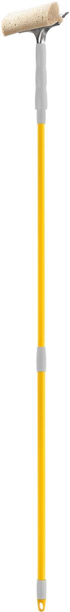 Стеклоочиститель Apex Telescopico, с телескопической ручкой, цвет: серый, желтый20670-AСтеклоочиститель Apex Telescopico, выполненный из пластмассы и стали, станет незаменимым помощником при уборке. Он стирает жидкость со стекла благодаря мягкой губке, а для полного вытирания имеется резиновая кромка. Насадка из поролона может использоваться отдельно. Стеклоочиститель имеет крепление к телескопической ручке. Длина ручки: 88-144 см. Ширина рабочей поверхности: 20 см.