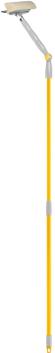 Стеклоочиститель Fratelli Re, с поворотной телескопической ручкой, 25 см20676-AСтеклоочиститель Fratelli Re, выполненный из пластмассы и стали, станет незаменимым помощником при уборке. Он стирает жидкость со стекла благодаря мягкой губке, а для полного вытирания имеется резиновая кромка. Насадка из поролона может использоваться отдельно. Специальная поворотная ручка позволит Вам использвовать стеклоочиститель под разным углом. Имеется крепление к более длинной ручке.