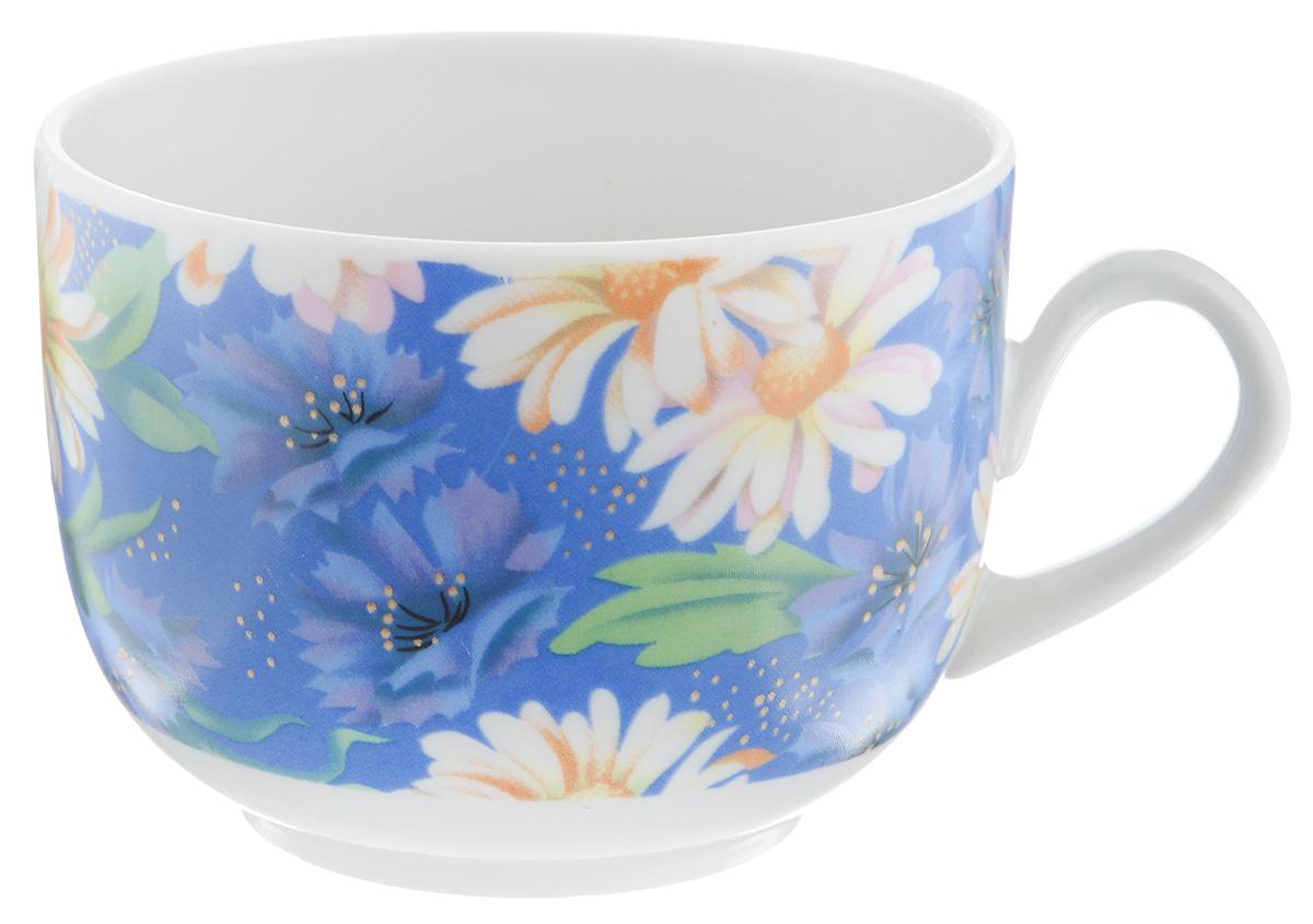 Чашка чайная Фарфор Вербилок Полянка, 250 мл767173Чайная чашка Фарфор Вербилок Полянка изготовлена из высококачественного фарфора и украшена цветочным рисунком на синем фоне. Она отвечает всем требованиям людей с широкой душой и хорошим аппетитом. Такая чашка прекрасно подходит как для ежедневных трапез, так и для подарков дорогим друзьям. Диаметр по верхнему краю: 8,5 см. Высота стенки: 6,5 см.