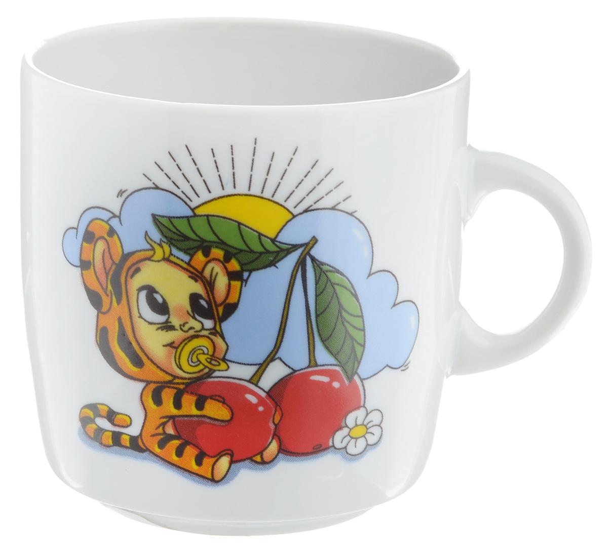 Кружка Фарфор Вербилок Тигрята, 210 мл8711520Кружка Фарфор Вербилок Тигрята способна скрасить любое чаепитие. Изделие выполнено из высококачественного фарфора. Посуда из такого материала позволяет сохранить истинный вкус напитка, а также помогает ему дольше оставаться теплым. Диаметр по верхнему краю: 7 см. Высота кружки: 7,5 см.