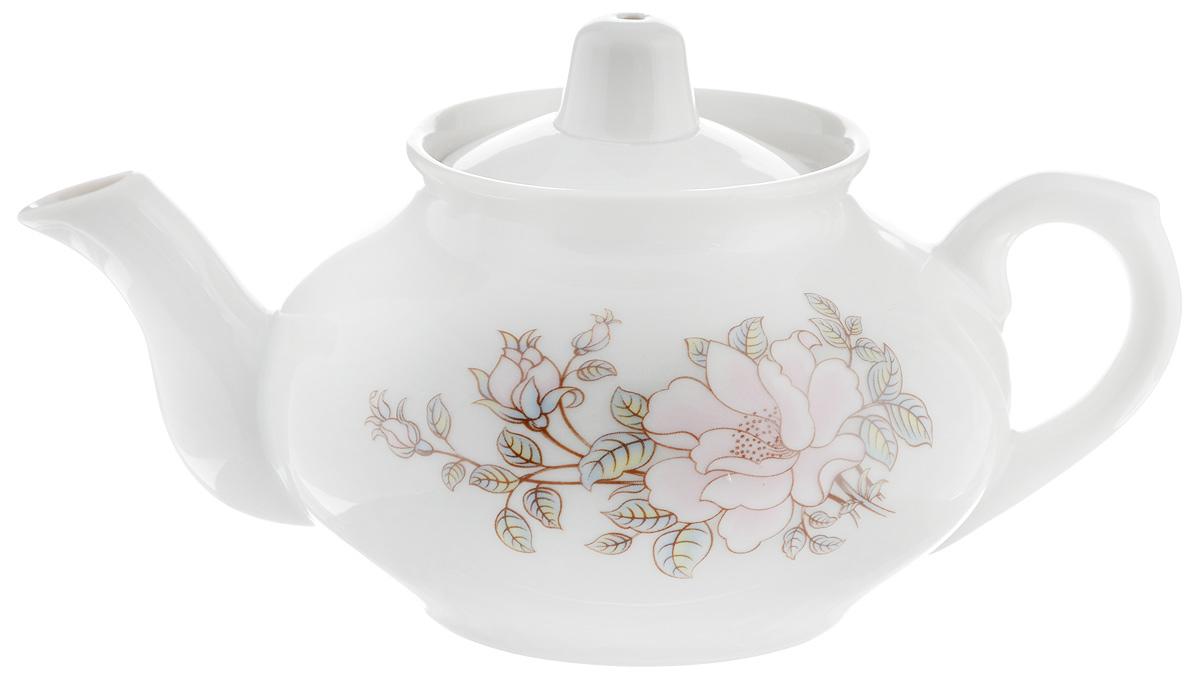 Чайник заварочный Фарфор Вербилок Контесса, 350 мл1430610Для того чтобы насладиться чайной церемонией, требуется не только знание ритуала и чай высшего сорта. Необходим прекрасный заварочный чайник, который может быть как центральной фигурой фарфорового сервиза, так и самостоятельным, отдельным предметом. От его формы и качества фарфора зависит аромат и вкус приготовленного напитка. Именно такие предметы формируют в доме атмосферу истинного уюта, тепла и гармонии. С заварочным чайником Фарфор Вербилок Контесса вы сможете ощутить более богатый, ароматный вкус чая или кофе. Изделие выполнено из высококачественного фарфора и украшено цветочным рисунком. Диаметр чайника по верхнему краю: 6 см. Диаметр основания чайника: 6,5 см. Высота чайника (без учета крышки): 7,5 см.
