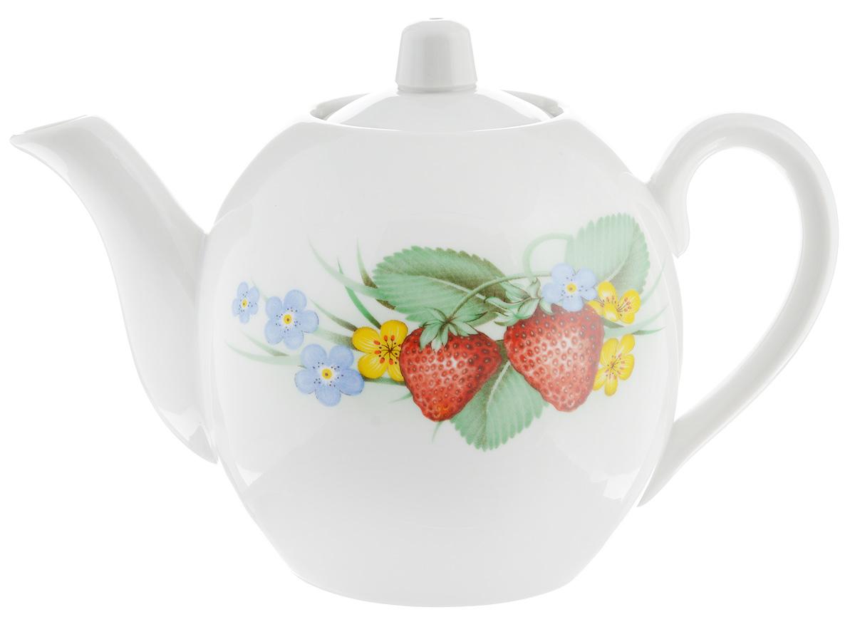 Чайник заварочный Фарфор Вербилок Лесной, 800 мл1641510Для того чтобы насладиться чайной церемонией, требуется не только знание ритуала и чай высшего сорта. Необходим прекрасный заварочный чайник, который может быть как центральной фигурой фарфорового сервиза, так и самостоятельным, отдельным предметом. От его формы и качества фарфора зависит аромат и вкус приготовленного напитка. Именно такие предметы формируют в доме атмосферу истинного уюта, тепла и гармонии. С заварочным чайником Фарфор Вербилок Лесной вы сможете ощутить более богатый, ароматный вкус чая или кофе. Изделие выполнено из высококачественного фарфора и украшено оригинальным рисунком. Диаметр чайника по верхнему краю: 6 см. Диаметр основания чайника: 7,5 см. Высота чайника (без учета крышки): 11,5 см.