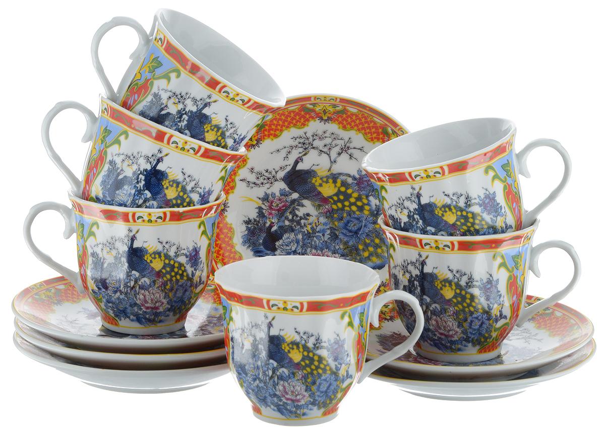 Набор чайный Bella, 12 предметов. DL-RF6-079DL-RF6-079Чайный набор Bella состоит из 6 чашек и 6 блюдец, изготовленных из высококачественного фарфора. Такой набор прекрасно дополнит сервировку стола к чаепитию, а также станет замечательным подарком для ваших друзей и близких. Объем чашки: 220 мл. Диаметр чашки (по верхнему краю): 8 см. Высота чашки: 7 см. Диаметр блюдца: 14 см. Высота блюдца: 2 см.
