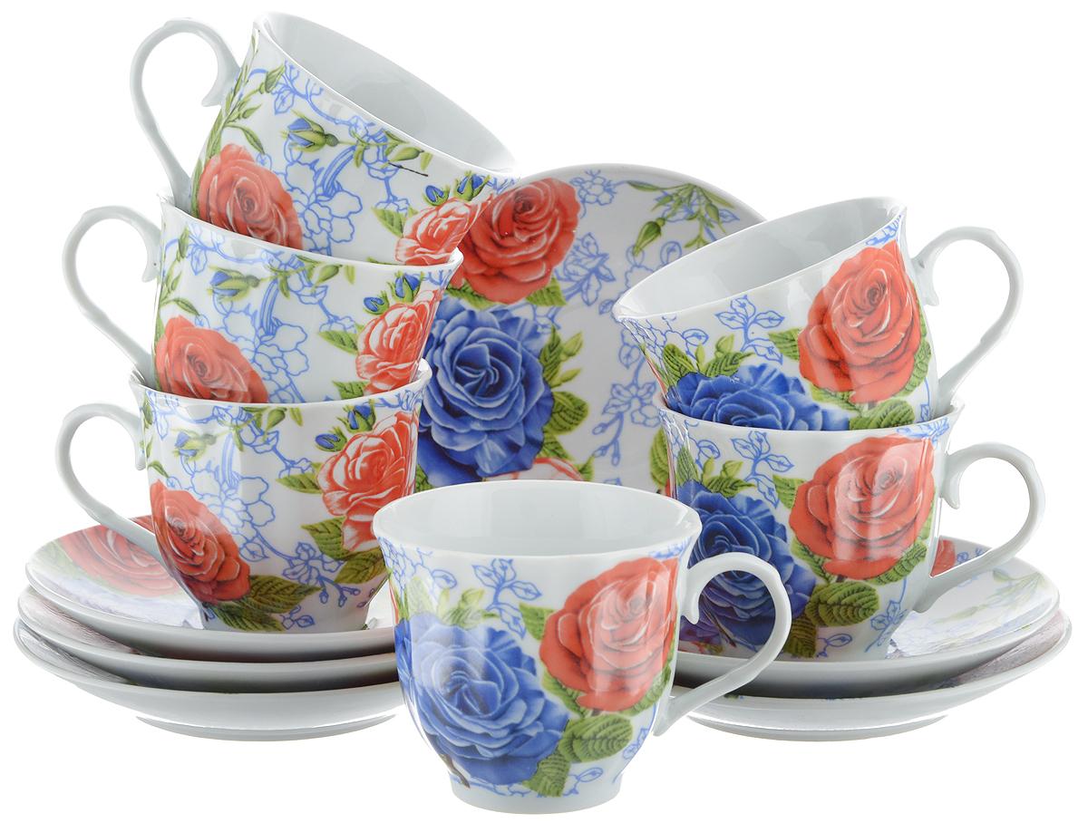 Набор чайный Bella, 12 предметов. DL-RF6-174DL-RF6-174Чайный набор Bella состоит из 6 чашек и 6 блюдец, изготовленных из высококачественного фарфора. Такой набор прекрасно дополнит сервировку стола к чаепитию, а также станет замечательным подарком для ваших друзей и близких. Объем чашки: 220 мл. Диаметр чашки (по верхнему краю): 8 см. Высота чашки: 7 см. Диаметр блюдца: 14 см. Высота блюдца: 2 см.
