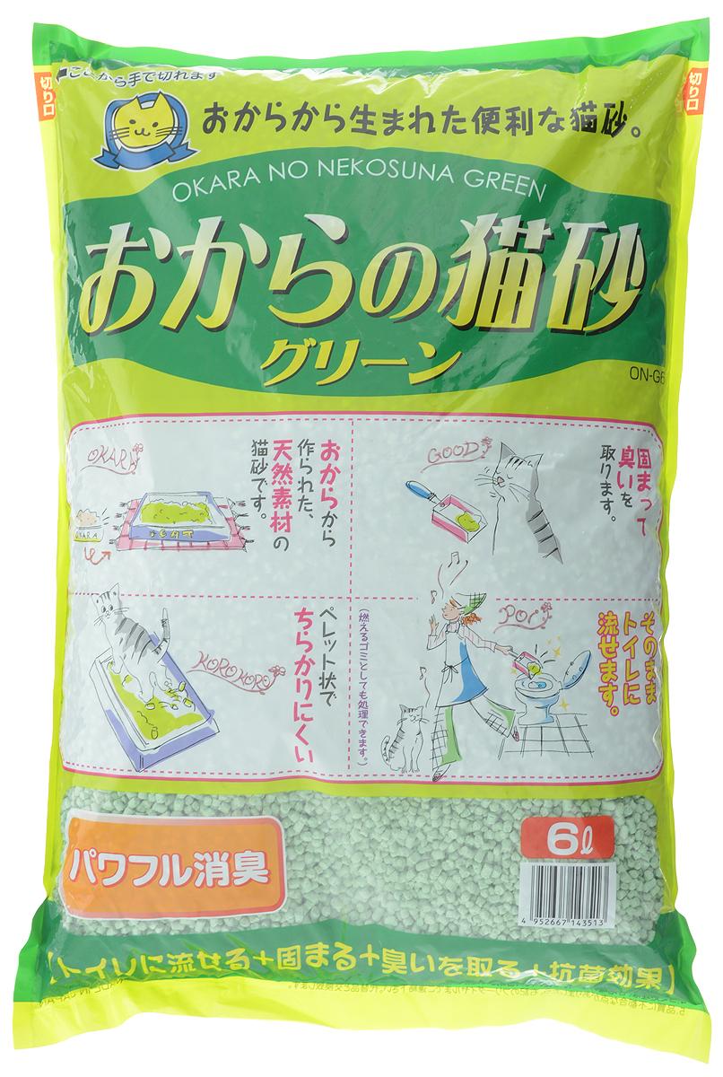 Наполнитель для кошачьего туалета Hitachi Okara, 6 л143513Наполнитель Hitachi Okara изготовлен из натуральных компонентов, которые быстро адсорбируют влагу и превращают кошачьи выделения в комочки, растворимые в воде. Для утилизации достаточно смыть комочки использованного наполнителя в унитаз. Наполнитель предотвращает распространение неприятного запаха и купирует размножение бактерий. Благодаря натуральной основе, животное быстро привыкает к наполнителю. Имеет легкий аромат зелени. Состав: окара, карбонат кальция, крахмал, антибактериальный компонент, проклеивающие компоненты, антиоксидант, отдушки, красители. Товар сертифицирован.