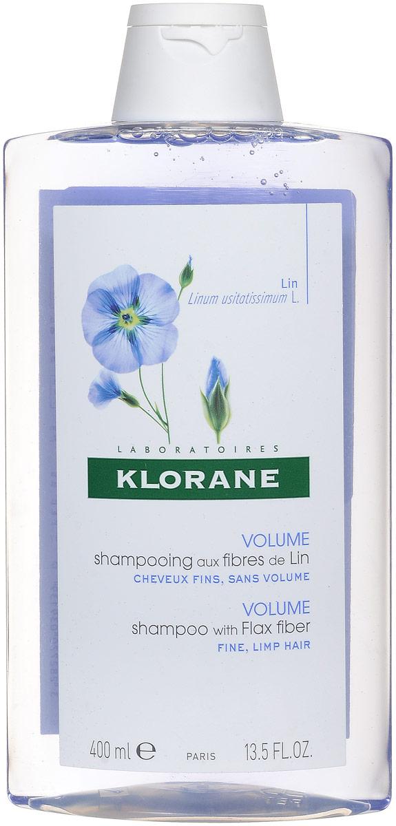 Klorane Fine Hair Шампунь с экстрактом льняного волокна, 400 мл