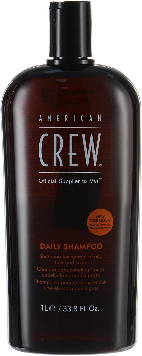 American Crew Шампунь для ежедневного ухода Classic Daily Shampoo 1000 мл7209210000Предназначенный для ежедневного ухода шампунь American Crew Classic Daily Shampoo включает в себя огромное количество полезных компонентов. Кора мыльного дерева очищает кожу головы и волосы, не влияя при этом на их структуру. Экстракты тимьяна и розмарина придают необходимое увлажнение, а блеск и силу волосам дадут протеины пшеницы. Данное средство рекомендуется для обогащения и очищения жирных и нормальных волос.
