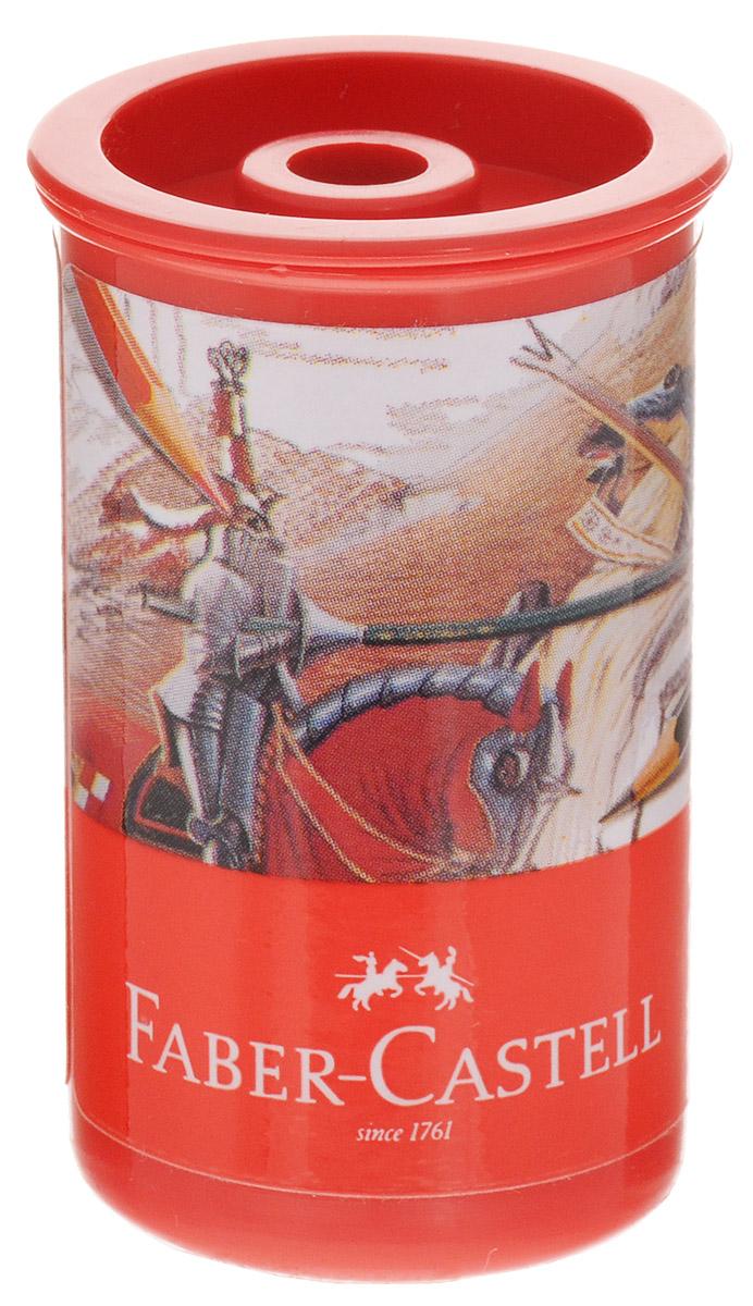 Faber-Castell Точилка-стаканчик Рыцарь581312_рыцарь, драконТочилка-стаканчик Faber-Castell - это точилка из пластика с контейнером и одним отверстием. Контейнер для сбора стружки повышенной вместимости плотно закрывается крышкой, что препятствует случайному высыпанию стружки. Точилка предназначена для использования как в школе, так и в офисе.