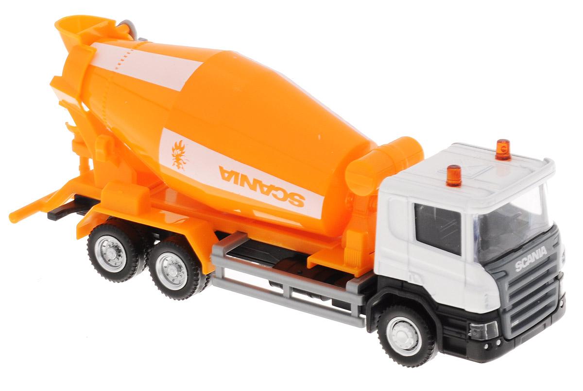 Uni-Fortune Toys Бетономешалка Scania144005_белый/оранжевыйБетономешалка Uni-Fortune Toys Scania будет отличным подарком как ребенку, так и взрослому коллекционеру. Модель в масштабе 1:64 выполнена из металла и пластика. Колеса машинки и барабан бетономешалки свободно вращаются. Бетономешалка Uni-Fortune Toys Scania обязательно понравится вашему ребенку и станет достойным экспонатом любой коллекции.