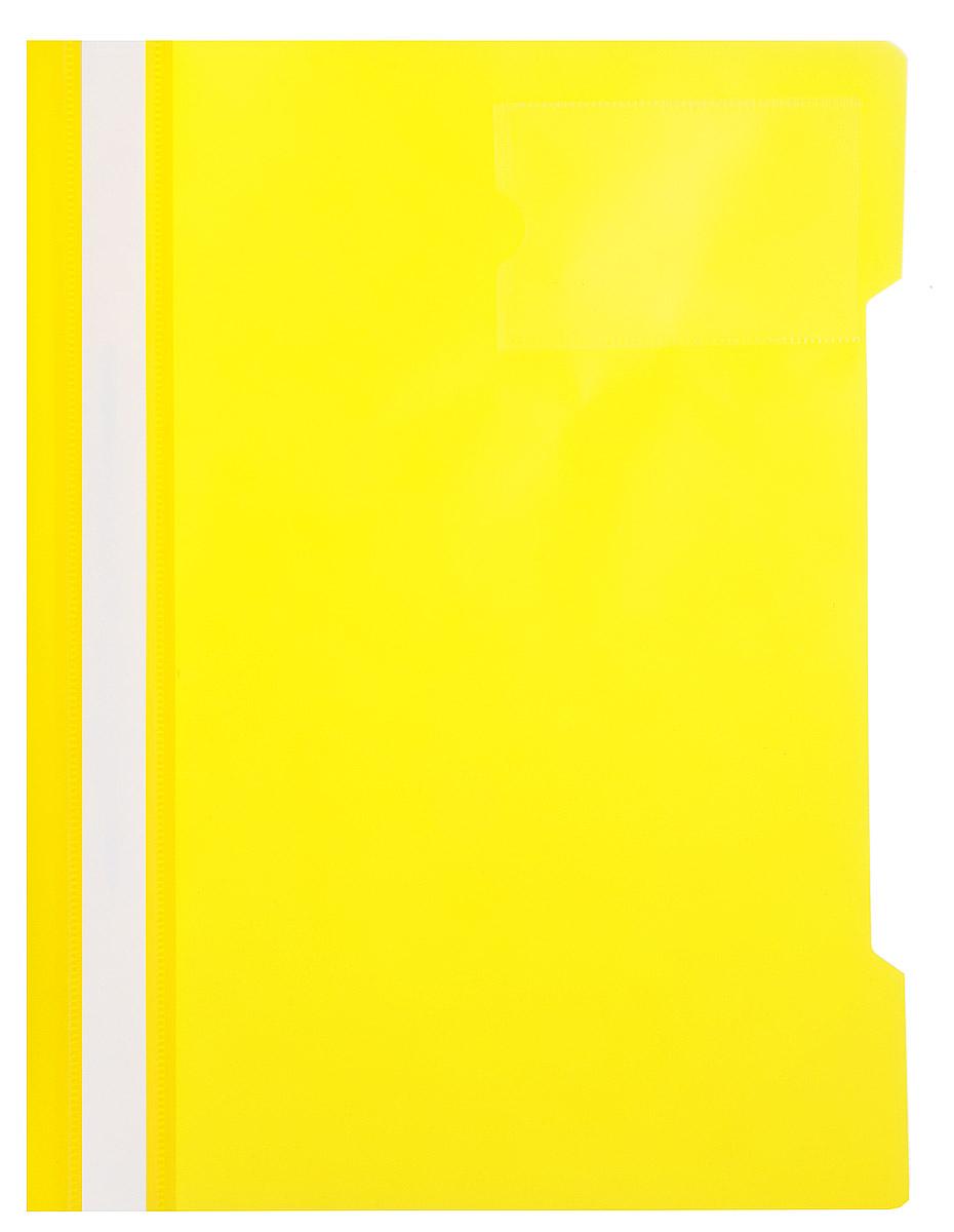 Бюрократ Папка-скоросшиватель цвет желтый