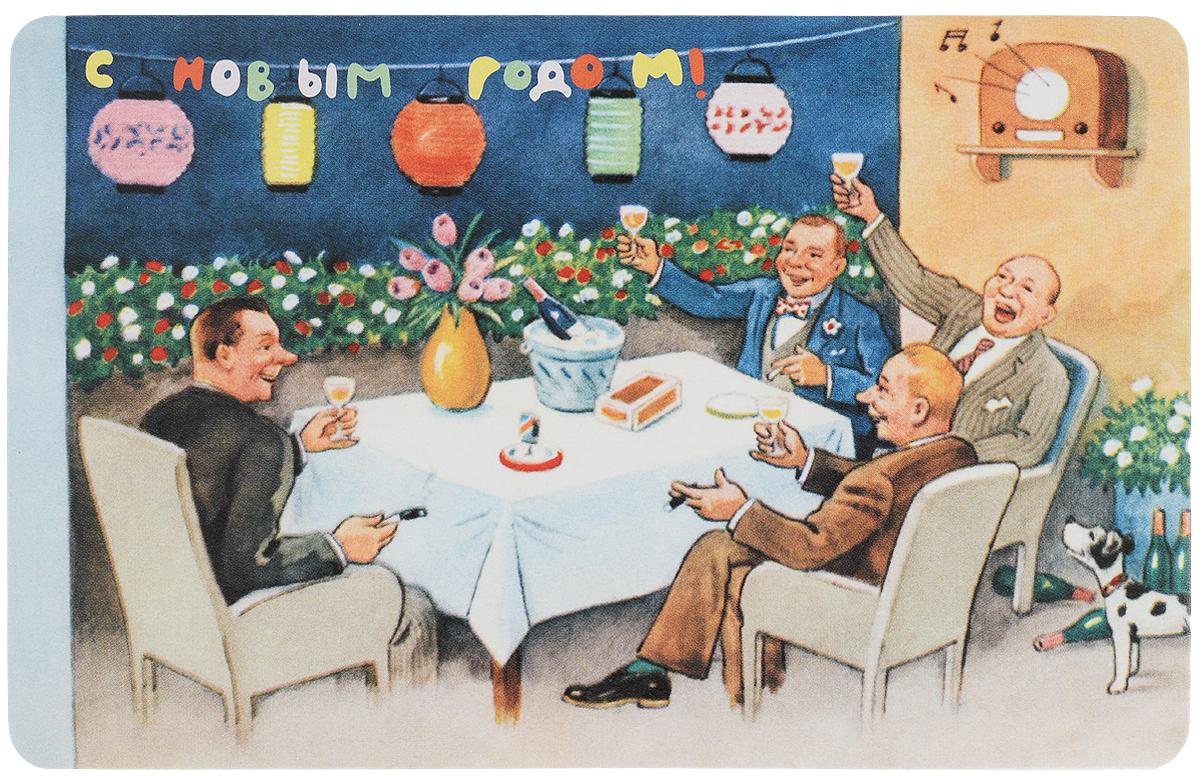 """Darinchi / Даринчи Открытка поздравительная в винтажном стиле """"Новый год"""". №334 ОТКР №334"""