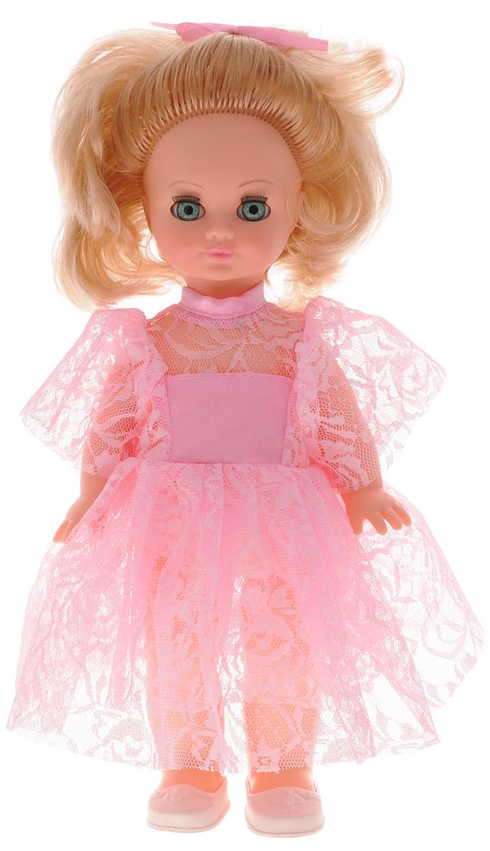 Весна Кукла озвученная Лена цвет платья розовыйВ13/о_розовое платьеОчаровательная кукла Весна Лена покорит сердце любой девочки! Обаятельный внешний вид и нарядная одежда красавицы вызывают только самые добрые и положительные эмоции. Кукла одета в розовое платье и туфельки. Прическа куклы украшена атласным розовым бантиком. Голова, ноги и руки куклы подвижны. Кукла Лена умеет разговаривать. Если нажать на ее тело, она будет произносить короткие фразы: Мама!, Почитай мне книжку и другие. Благодаря играм с куклой, ваша малышка сможет развить фантазию и любознательность, овладеть навыками общения и научиться ответственности. Порадуйте свою принцессу таким прекрасным подарком! Милая игрушка станет лучшей подружкой для девочки и научит ребенка доброте и заботе о других. Для работы игрушки требуются 3 батарейки LR44/AG13/СЦ357 (товар комплектуется демонстрационными).