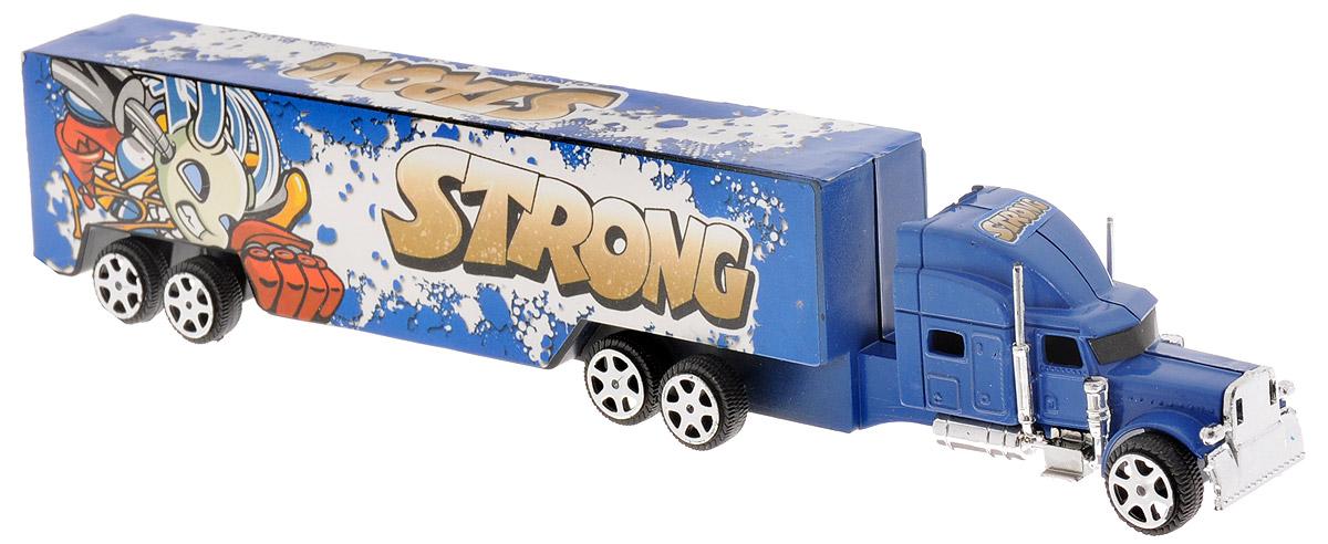 Junfa Toys Грузовик инерционный Strong цвет синий1078_синийИнерционный грузовик Junfa Toys Strong станет прекрасным подарком для вашего малыша. Игрушка выполнена из прочного пластика в виде мощного грузовика. Машина оснащена инерционным механизмом. Достаточно немного отвести машинку назад, а затем отпустить, и она самостоятельно поедет вперед. Малыш проведет с этой игрушкой много увлекательных часов, разыгрывая различные ситуации. Ваш ребенок будет в восторге от такого подарка!