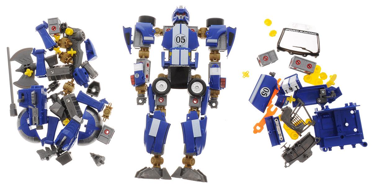 Happy Well Робот-трансформер Ford Mustang FR500C 3 в 154050Робот-трансформер Happy Well Ford Mustang FR500C 3 в 1 - это удивительная игрушка, позволяющая совмещать три в одном - робота, животного и машинку. Робот без особого труда трансформируется как в животное, так и в модель автомобиля. Ребенок может играть по желанию с игрушечным роботом или же с машинкой. Все модели с подвижными частями. Игрушка робот-трансформер выполнена в масштабе 1:24. Робот-трансформер выполнен из качественных и безопасных материалов. Игрушка хорошо развивает мышление, память и воображение ребенка.