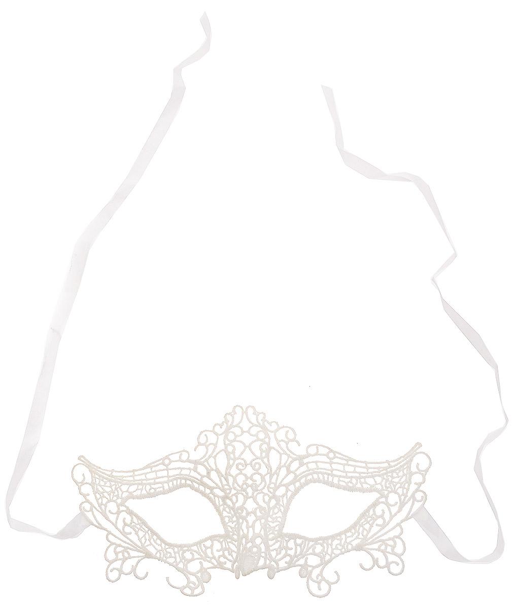 Partymania Карнавальная маска Кружево цвет белый T1228_3T1228_3_белыйМаска Partymania Кружево оживит любой праздник и не позволит вам заскучать. Маска выполнена в белом цвете из плотного качественного кружева ручной работы. Маска закрывает верхнюю половину лица. Изделие завязывается на ленточки, поэтому легко подогнать под нужный размер. Маска карнавальная Кружево является отличным решением для карнавалов, детских утренников и просто праздников.