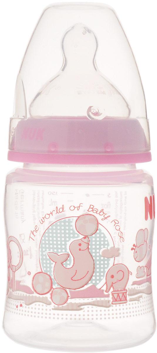 NUK Бутылочка для кормления Baby Rose с силиконовой соской от 0 до 6 месяцев 150 мл