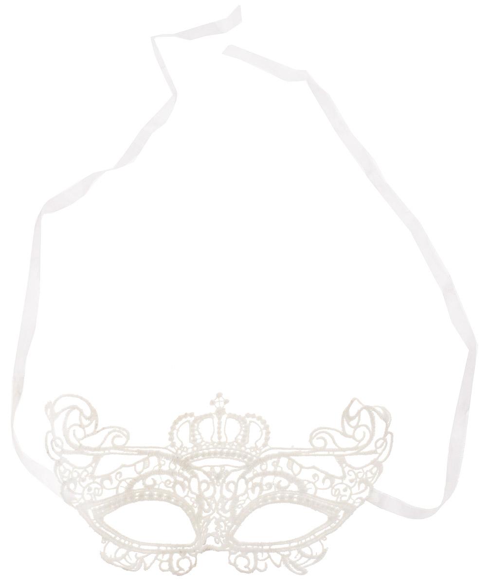 Partymania Карнавальная маска Кружево цвет белый T1228_5