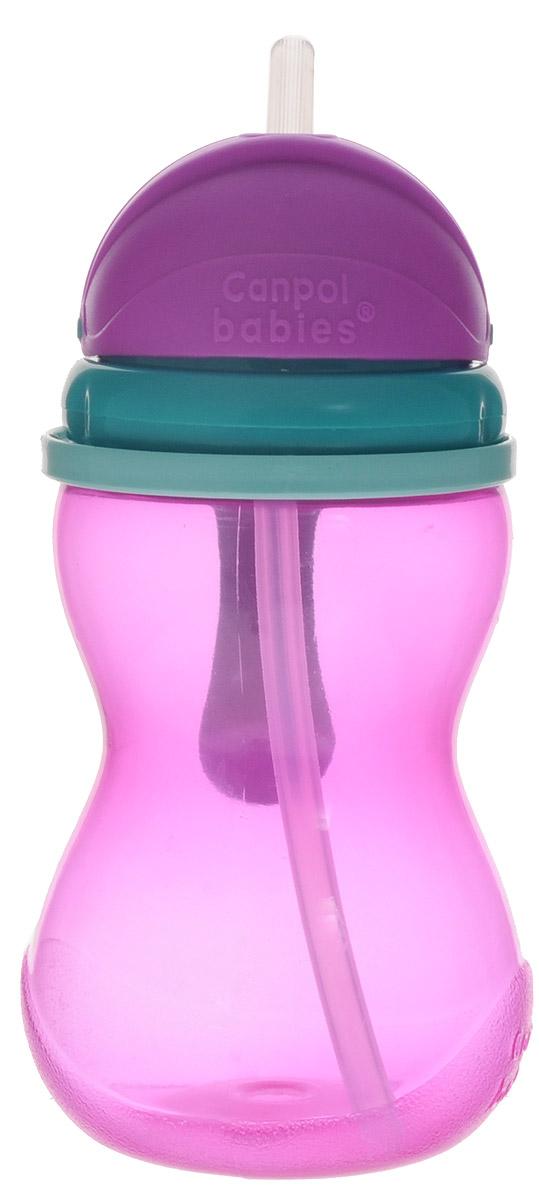 Canpol Babies Поильник с трубочкой от 12 месяцев цвет розовый 370 мл