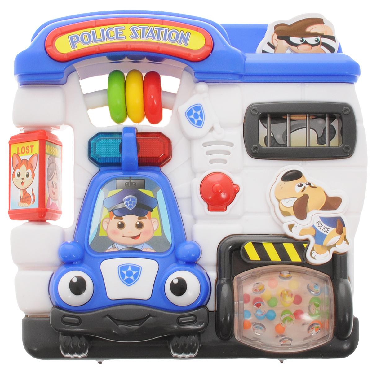 Playgo Развивающая игрушка Полицейский участокPlay 1016Развивающая игрушка Playgo Полицейский участок - это развивающая игрушка, с которой ребенку будет не только интересно, но и полезно проводить время. Игрушка может издавать различные звуки, а также светиться, что обязательно привлечет внимание малыша. Играя с Полицейским участком, ребенок научится логически мыслить, а также получит некоторое представление о цветах и формах. Игрушка изготовлена из качественного пластика и окрашена в яркие цвета, которые привлекут внимание ребенка. Рекомендуется докупить 2 батарейки напряжением 1,5V типа АА (товар комплектуется демонстрационными).