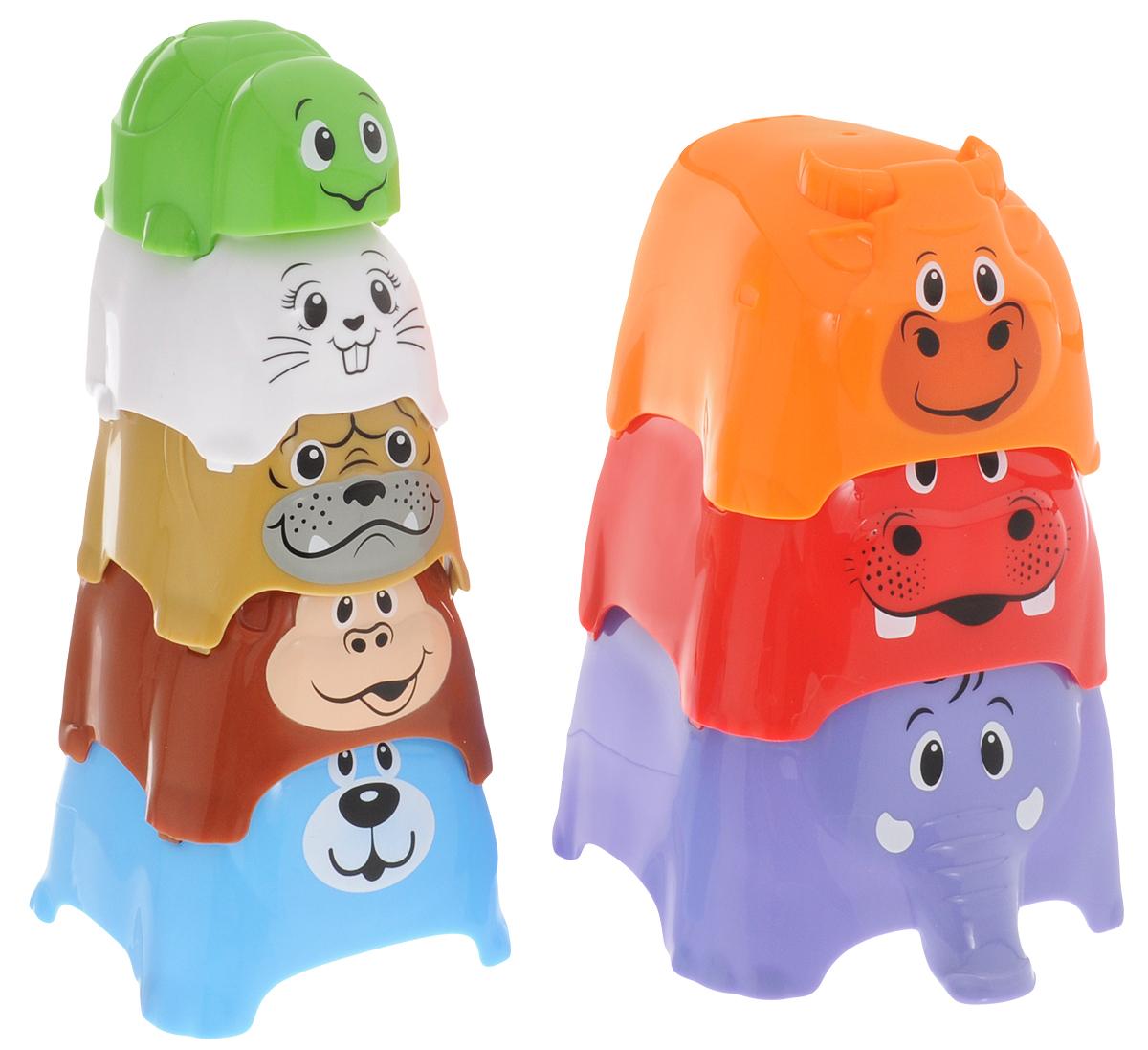 Playgo Пирамидка Животные 2375Play 2375Пирамидка Playgo Животные представляет собой 8 стаканчиков разного диаметра с изображениями животных, которые можно складывать один в другой или выстраивать из них высокую башню. Эта игрушка будет способствовать развитию зрительного восприятия, смекалки, усердия, тактильных ощущений. Ваш малыш, играя в пирамидку, будет изучать цвета и сравнивать размеры стаканчиков.