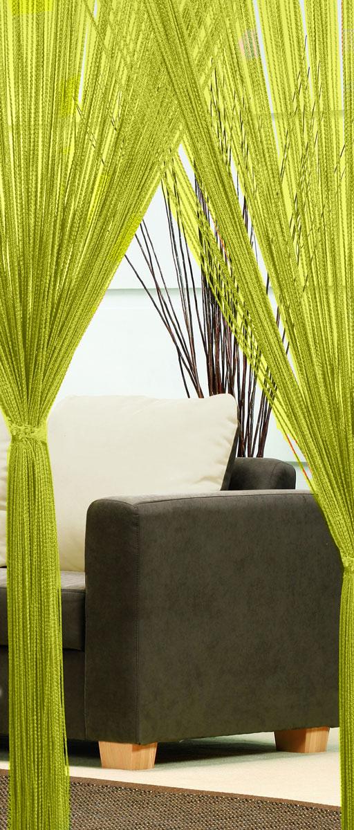 Гардина-лапша Haft, на кулиске, цвет: зеленый, высота 250 см46991/250 зеленыйЛегкая гардина-лапша на кулиске Haft, изготовленная из полиэстера, станет великолепным украшением любого окна. Оригинальный дизайн и приятная цветовая гамма привлекут к себе внимание и органично впишутся в интерьер комнаты.