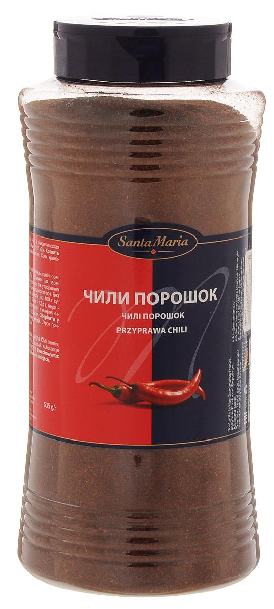 Santa Maria Чили порошок, 535 г15233Приправа Santa Maria на основе перца чили с добавлением ароматных трав и пряностей. Добавляется в мясные и овощные блюда, где требуется острый вкус и аромат.