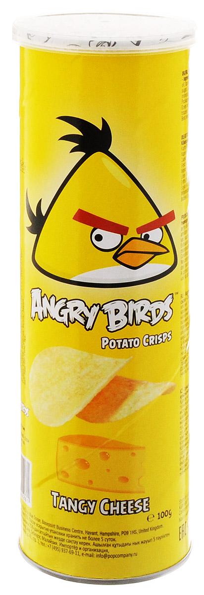 Angry Birds чипсы со вкусом сыра, 100 г7640110242261Хрустящая картофельная закуска Angry Birds с ярким вкусом сыра — к сидру или пиву! Возьмите с собой на пикник, в дорогу или в кинотеатр. Благодаря удобной тубе они не сломаются и не рассыплются. Рекомендуется подавать с сырными и чесночными соусами.