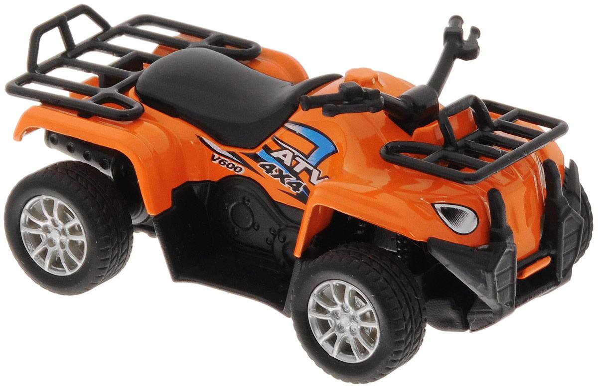 Big Motors Квадроцикл инерционный цвет оранжевый6688-6Инерционный квадроцикл Big Motors станет любимой игрушкой вашего малыша. Игрушка представляет собой мощный квадроцикл с резиновыми колесами. Квадроцикл оснащен инерционным механизмом. Достаточно немного отвести его назад, а затем отпустить, и квадроцикл быстро поедет в ту же сторону. Ваш ребенок будет увлеченно играть с этим квадроциклом, придумывая различные истории. Порадуйте его таким замечательным подарком!
