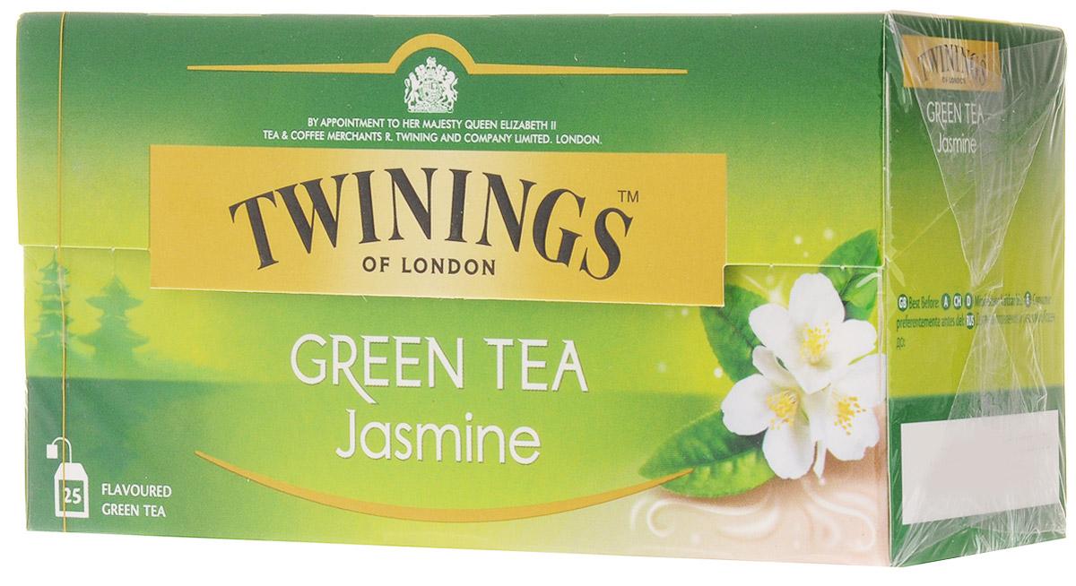 Twinings Jasmine чай зеленый в пакетиках, 25 шт02073Twinings Jasmine - это зеленый чай с добавлением жасмина. Напиток прозрачного цвета с экзотическим утонченным ароматом.