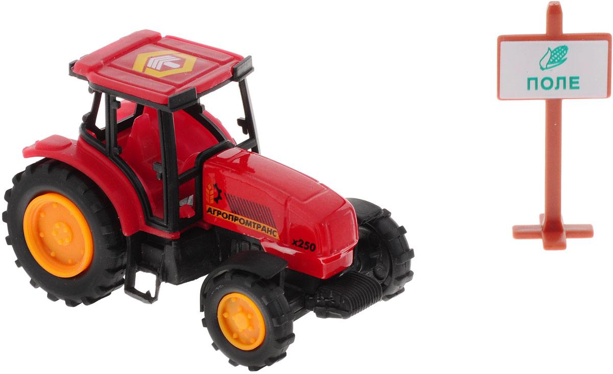 ТехноПарк Трактор Агропромтранс цвет красный10119-RТрактор ТехноПарк, изготовленный из прочного безопасного материала, отлично подойдет ребенку для различных игр. Трактор отлично подойдет для игр ребенка дома, или на свежем воздухе, а также поможет малышу перевезти мелкие игрушки с место на место. Ребристые колеса трактора обеспечивают прочное сцепление с дорогой, не давая скользить технике по полу. Удивите своего маленького строителя новой современной техникой! Такая игрушка, несомненно, обрадует малыша и принесет ему уйму ярких впечатлений. Ваш ребенок сможет прекрасно провести время дома или на улице, воспроизводя свою стройку. Собери целую коллекцию строительной техники ТехноПарк для постройки восхитительных сооружений!