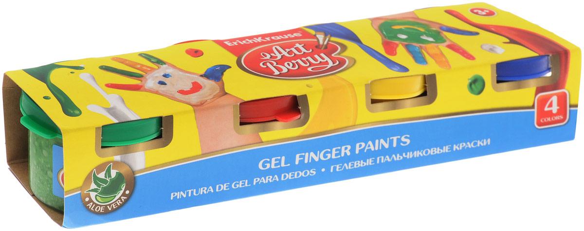 Erich Krause Краска пальчиковая ArtBerry 4 цвета 41751