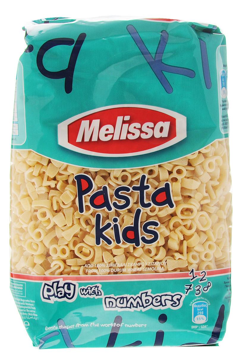 """Продукция компании """"Melissa"""" производится в Греции и готовится по собственному рецепту, сохраняющему вкус твердых сортов пшеницы. Паста """"Цифры"""" имеет светлый оттенок, как в сыром, так и в готовом виде, и сохраняет идеальную текстуру при приготовлении. Среди других продуктов детская линейка макаронных изделий по праву занимает достойное место."""