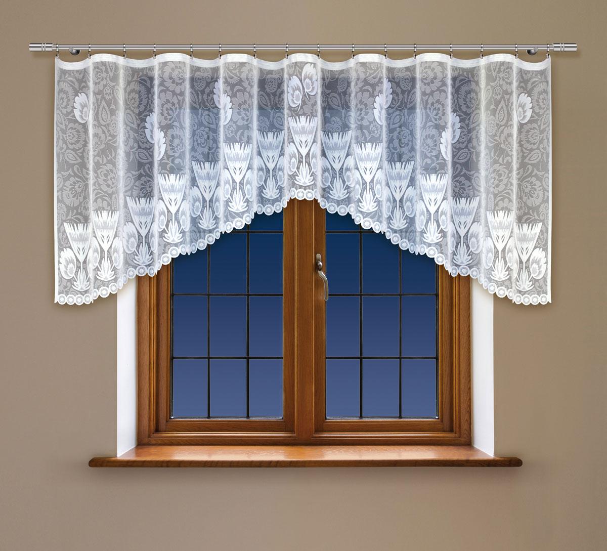 Гардина Haft, на ленте, цвет: белый, высота 140 см. 222350222350/140Гардина Haft, изготовленная из полиэстера, станет великолепным украшением любого окна. Тонкое плетение и оригинальный дизайн привлекут к себе внимание. Изделие органично впишется в интерьер. Гардина крепится на карниз при помощи ленты, которая поможет красиво и равномерно задрапировать верх.