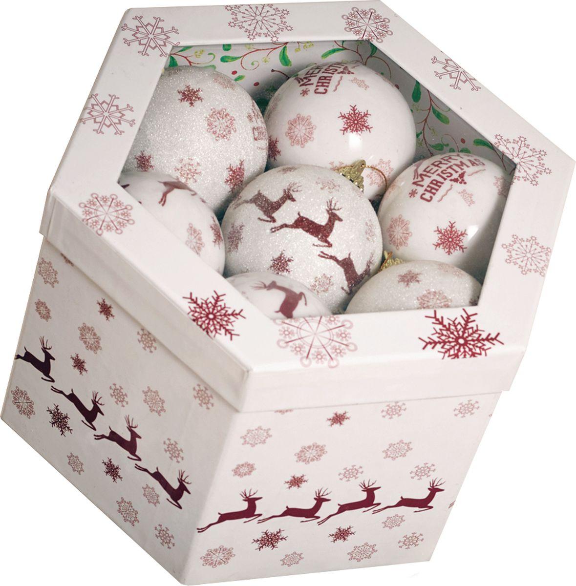 Набор шаров Gardman, 14 шт, диаметр 7,5 см. 18804XS18804XSНабор елочных шаров из глянцевых и матовых в подарочной коробке для украшения дома на Рождество и Новый Год.