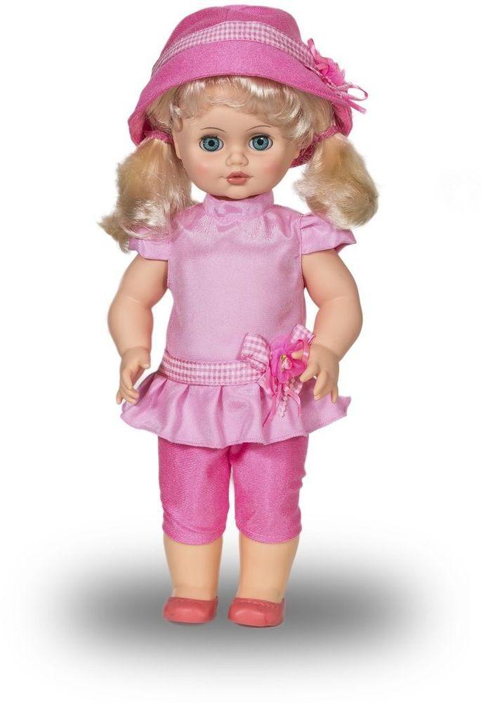 Весна Кукла Инна озвученная В2257/оВ2257/оУ ангелочка Инны небесно-голубые глаза и чудесные светлые хвостики. На ней надет прелестный розовый костюмчик с поясом-цветком, розовые туфельки и шляпка в тон. У Инны закрываются глазки, и она умеет разговаривать. При нажатии на звуковое устройство, вставленное в спинку, кукла произносит следующие фразы: -Здравствуй! -Я – твоя подружка! -Давай дружить! Очаровательная кукла Весна покорит сердце любой девочки! Обаятельный внешний вид и прелестные одежки игрушечных красавиц вызывают только самые добрые и положительные эмоции. Куклы производятся на российских фабриках из нетоксичных, безопасных для детей материалов. Они отличаются высоким качеством, проработанностью деталей и гармоничными пропорциями тела. Голова и ручки кукол изготовлены из эластичного винила, очень приятного на ощупь, а туловище и ножки - из прочной пластмассы. У кукол густые мягкие волосы, которые можно мыть, расчесывать и заплетать как только захочется. Они прочно закреплены и способны выдержать практически...