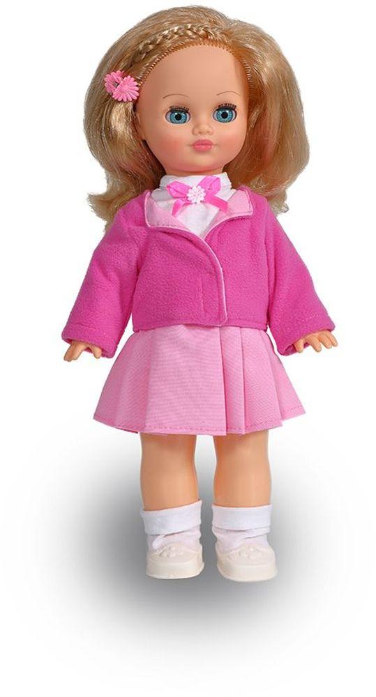 Весна Кукла Лена озвученная В332/оВ332/оУ прелестной куклы Лены от фабрики Весна небесно-голубые глаза и блестящие светлые волосы. Наряд куклы состоит из белоснежной блузки с бантом, розовой юбочки, теплого жакетика, белых носочек и туфелек. Комплект дополняет заколка-цветочек. У Лены закрываются глазки, и она умеет разговаривать. При нажатии на звуковое устройство, вставленное в спинку, кукла произносит следующие фразы: -Мама, -Почитай мне книжку. -Давай поиграем. -Есть хочу. -Хочу спать. Очаровательная кукла Весна покорит сердце любой девочки! Обаятельный внешний вид и прелестные одежки игрушечных красавиц вызывают только самые добрые и положительные эмоции. Куклы производятся на российских фабриках из нетоксичных, безопасных для детей материалов. Они отличаются высоким качеством, проработанностью деталей и гармоничными пропорциями тела. Голова и ручки кукол изготовлены из эластичного винила, очень приятного на ощупь, а туловище и ножки - из прочной пластмассы. У кукол густые мягкие волосы, которые можно мыть,...