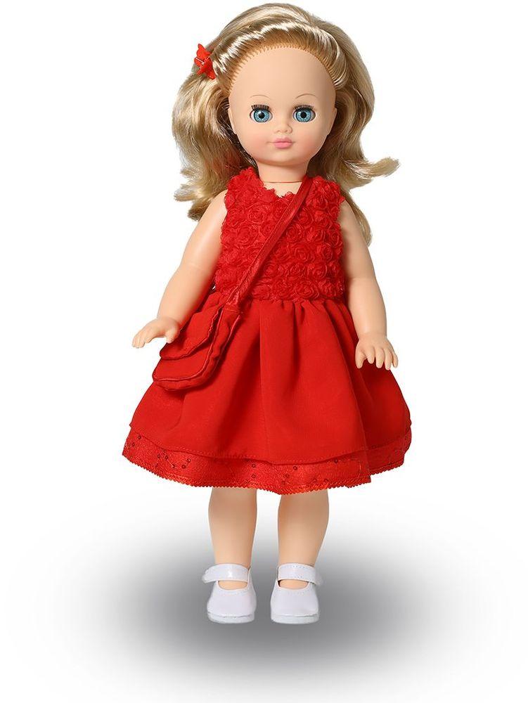 Весна Кукла Лиза озвученная В2959/оВ2959/оУ прекрасной куклы Лизы от фабрики Весна лазурно-голубые глаза и блестящие светлые кудри. На ней надето нарядное красное платье и белые туфельки. К платью подобраны сумочка и заколка-бабочка в тон. У Лизы закрываются глазки, и она умеет разговаривать. При нажатии на звуковое устройство, вставленное в спинку, кукла произносит различные фразы. Очаровательная кукла Весна покорит сердце любой девочки! Обаятельный внешний вид и прелестные одежки игрушечных красавиц вызывают только самые добрые и положительные эмоции. Куклы производятся на российских фабриках из нетоксичных, безопасных для детей материалов. Они отличаются высоким качеством, проработанностью деталей и гармоничными пропорциями тела. Голова и ручки кукол изготовлены из эластичного винила, очень приятного на ощупь, а туловище и ножки - из прочной пластмассы. У кукол густые мягкие волосы, которые можно мыть, расчесывать и заплетать как только захочется. Они прочно закреплены и способны выдержать практически любые творческие...