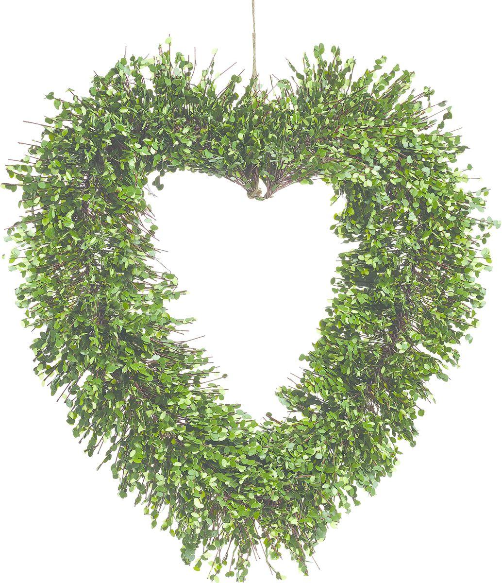 Настенный декор Gardman Венок-сердце, со светодиодами, 51 см02865Растение, освещенное 35 светодиодами, можно расположить как внутри, так и снаружи помещения. Растение оснащено таймером: автоматическое включение на 6 часов -выключение на 18 часов. Работает от 3 батареек АА ( в комплект не включены)