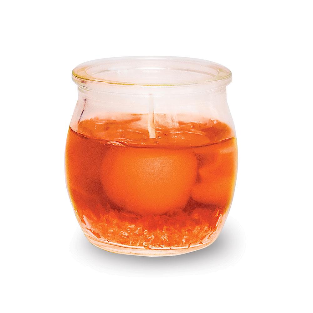 B&H Свеча ароматизированная Дольки мандарина, 5 смBH1205Свеча гелевая с долькой мандарина ароматизированная в виде банки с крышечкой. Высота 5 см.