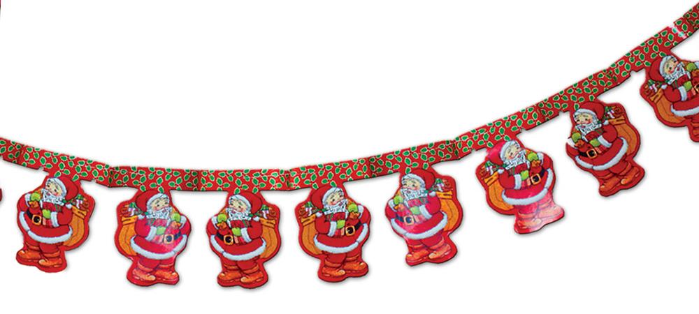 B&H Гирлянда бумажная Санта, 3 мBH1217_сантаГирлянда бумажная с принтом. Длина 3 м.