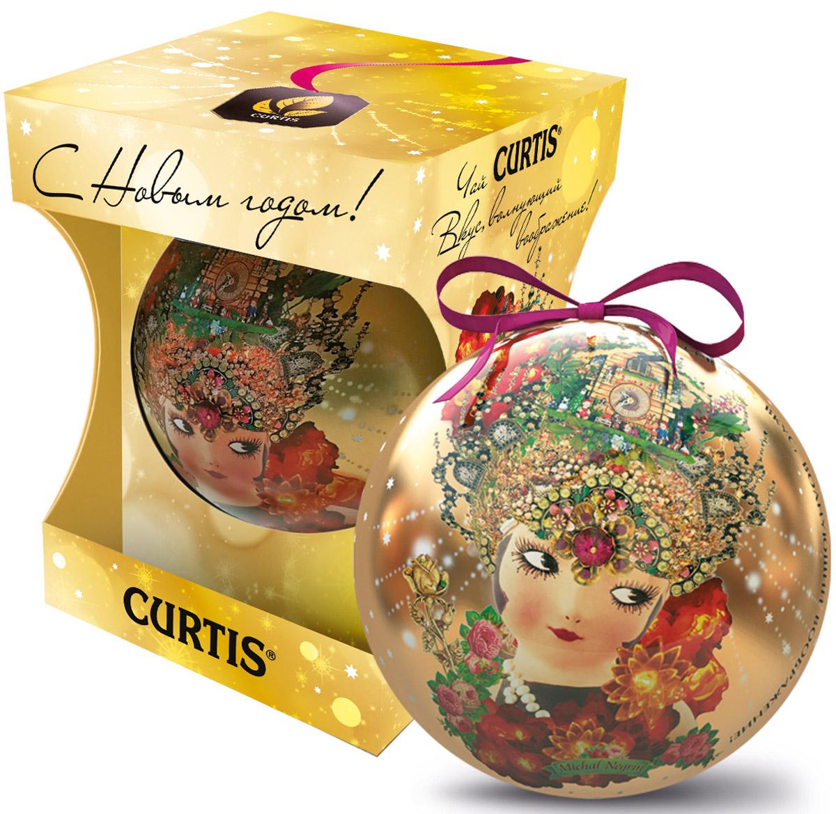 Curtis She-Shy Christmas Ball желтый, черный листовой чай, 30 г100134Превосходный черный цейлонский чай Curtis She-Shy Christmas Ball в новогодней подарочной упаковке в форме шара золотого цвета. Отлично подойдет в качестве подарка на новогодние праздники. Уважаемые клиенты! Обращаем ваше внимание на то, что упаковка может иметь несколько видов дизайна. Поставка осуществляется в зависимости от наличия на складе.