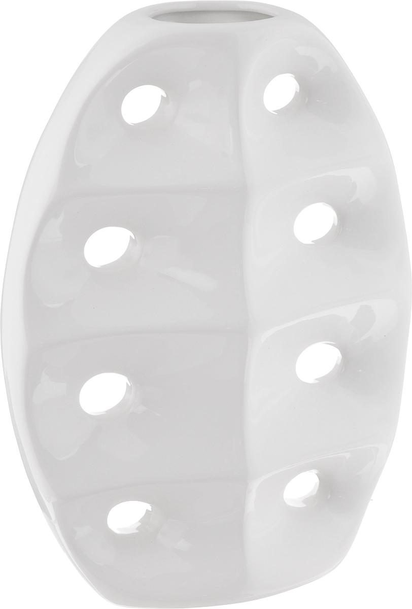 Ваза House & Holder, высота 28,5 смYDY16210Экстравагантная ваза House & Holder изготовлена из керамики. Такое оформление делает ее изящным украшением интерьера. Ваза House & Holder дополнит интерьер офиса или дома и станет желанным и стильным подарком. Размер вазы: 20,5 х 9 х 28,5 см.