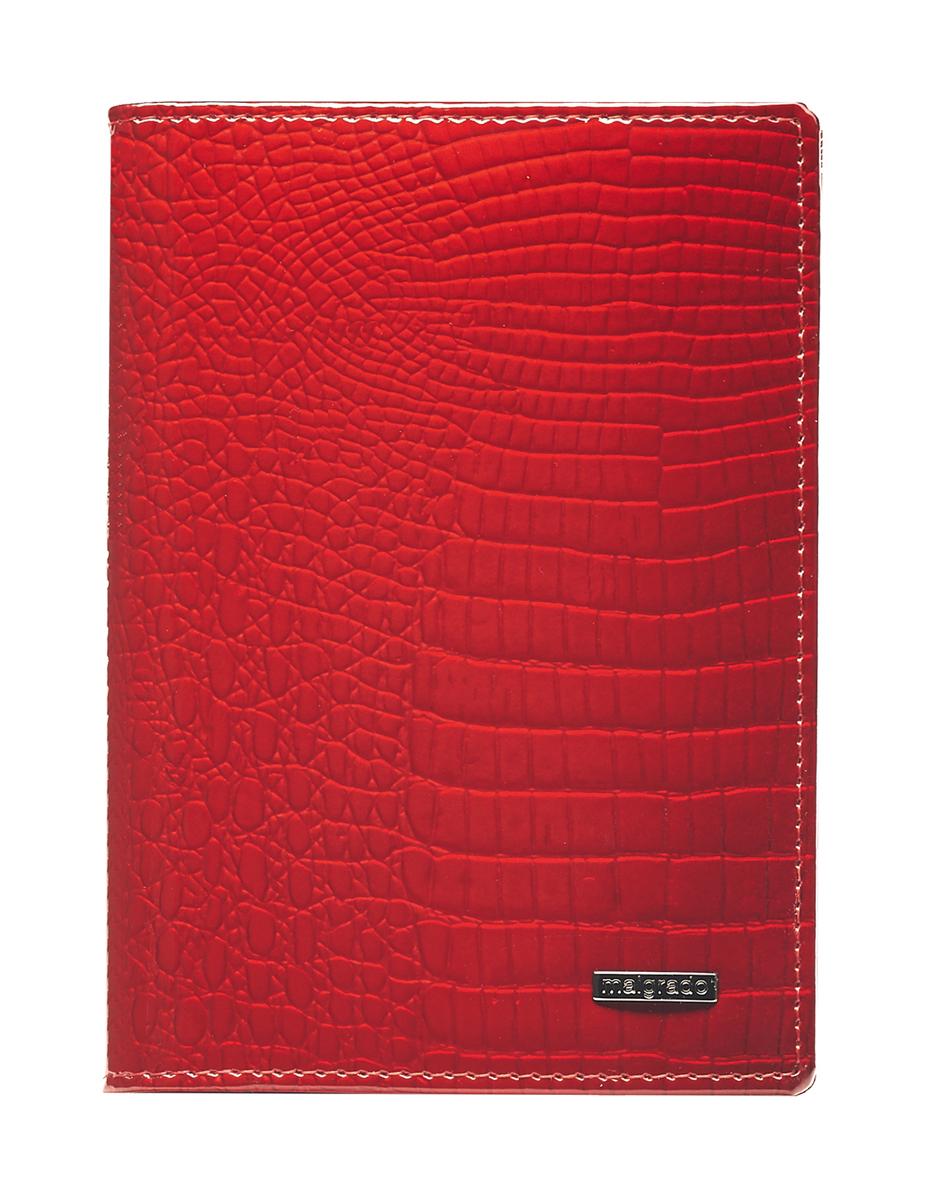 Обложка для паспорта Malgrado, цвет: красный. 54019-1-44#54019-1-44# RedСтильная обложка для паспорта Malgrado изготовлена из натуральной лакированной кожи красного цвета с тиснением под рептилию. Внутри содержит прозрачное пластиковое окно, съемный прозрачный вкладыш для полного комплекта автодокументов, пять отделений для кредитных и дисконтных карт. Обложка упакована в подарочную картонную коробку с логотипом фирмы. Такая обложка станет замечательным подарком человеку, ценящему качественные и практичные вещи. Характеристики: Материал: натуральная кожа, пластик. Размер обложки: 13,5 см х 9,5 см х 1,5 см. Цвет: красный. Размер упаковки: 15,5 см х 11,5 см х 3,5 см. Артикул: 54019-1-44#.