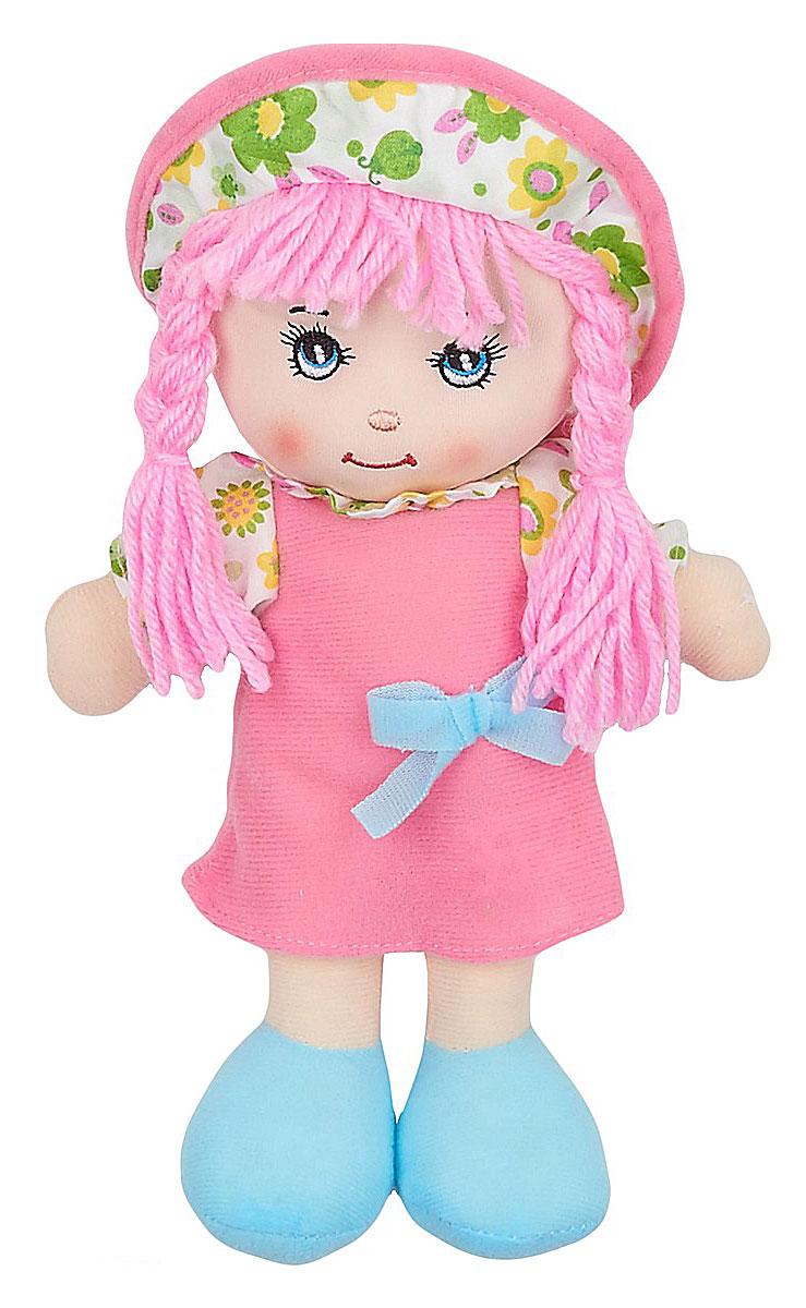 Little You Мягкая кукла Кейт цвет платья розовыйF90716-10_розовый, голубойМягкая кукла Little You Кейт будет прекрасным подарком для самых маленьких девочек. Кукла одета в розовое платье с голубым бантиком и белую панамку с цветочным принтом. Розовые нитяные волосы, собранные в две косички, заинтересуют своей необычностью. Кукла выполнена в нежных и спокойных тонах - это положительно влияет на эмоциональное состояние ребенка. Разнофактурные материалы игрушки поддерживают развитие сенсорной моторики ребенка. Кукла улыбается, у нее милые вышитые глазки. Мягкая кукла Little You станет настоящим другом для вашей маленькой принцессы.