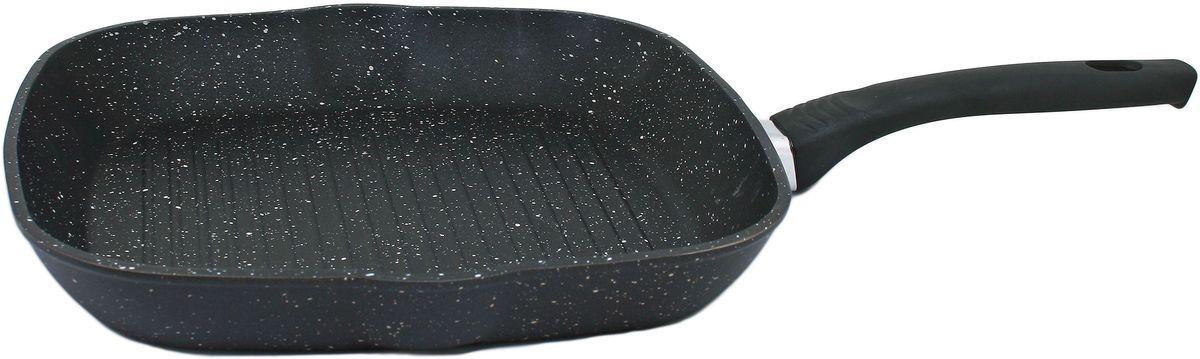 Сковорода-гриль Casta Megapolis, квадратная, с антипригарным покрытием, 26 х 26 см. СЗ2626-ГРКСЗ2626-ГРКСковорода-гриль квадратная алюминиевая с антипригарным покрытием 26см с несъемной бакелитовой ручкой